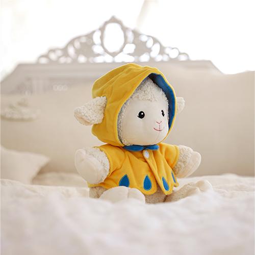 멜로디 수면인형 프랜드쉽 슈(우비소녀)_불빛이 나오는 아기양 수면인형_백일~첫돌/돌선물 추천/애착인형